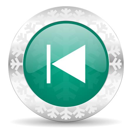 previous: previous green icon, christmas button