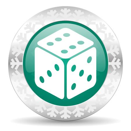 picto: casino green icon, christmas button, hazard sign