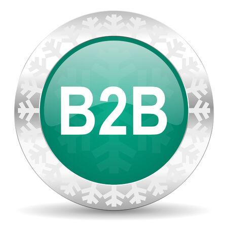 b2b: b2b icono verde bot�n, navidad