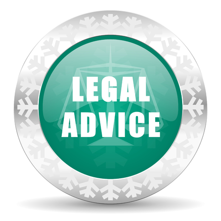 criminal act: legal advice green icon, christmas button, law sign