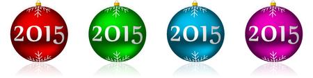 2015 new years illustration with christmas balls illustration
