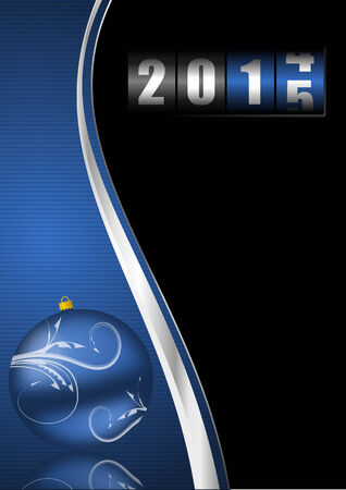 newyear card: 2014 2015 new years illustration with counter