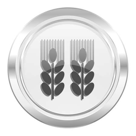 agricultural: agricultural metallic icon
