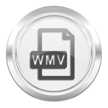 wmv: wmv file metallic icon
