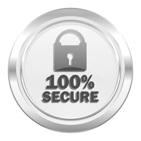 secure: secure metallic icon
