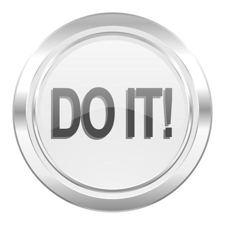 just do it: do it metallic icon