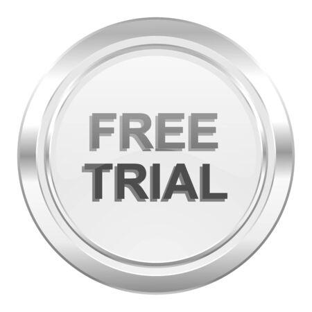 gratuity: free trial metallic icon