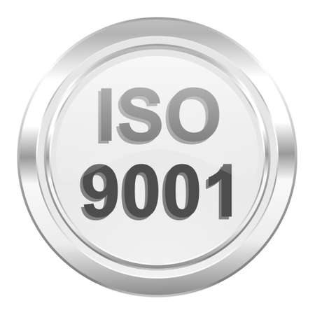din: iso 9001 metallic icon Stock Photo