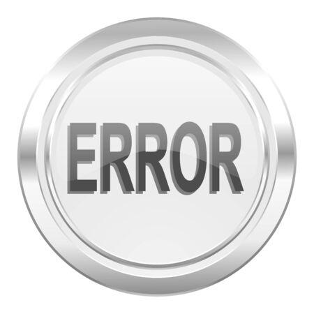 error metallic icon photo