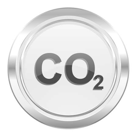 carbon dioxide: carbon dioxide metallic icon co2 sign Stock Photo