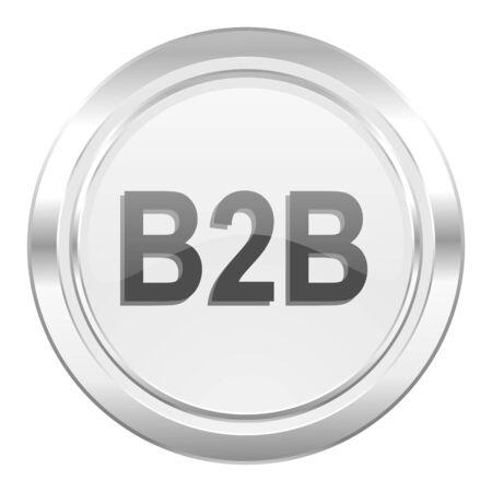 b2b: icono met�lico b2b