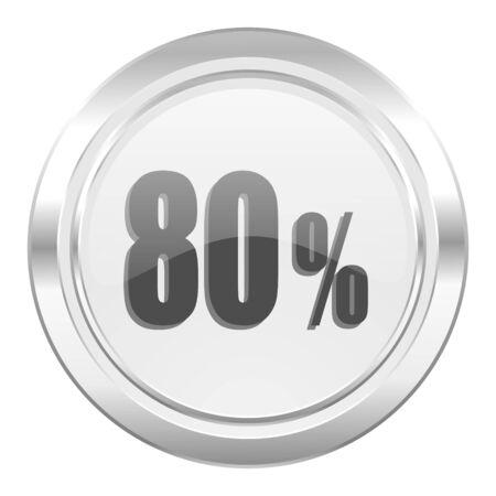 80: 80 percent metallic icon sale sign