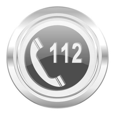 emergency call metallic icon 112 call sign photo