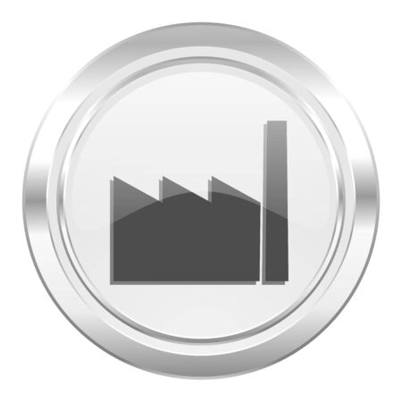 industrialist: factory metallic icon industry sign manufacture symbol