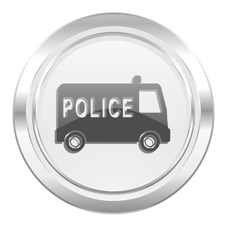patrolman: police metallic icon