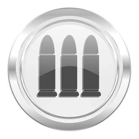 ammunition: ammunition metallic icon weapoon sign