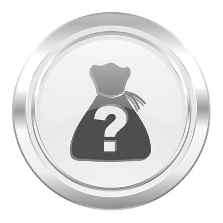 riddle: riddle metallic icon Stock Photo