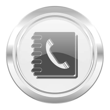 phonebook: phonebook metallic icon