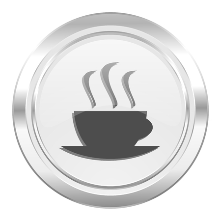 hot cup: espresso metallic icon hot cup of caffee sign