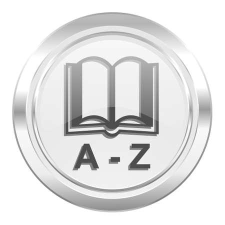 dictionary: dictionary metallic icon Stock Photo