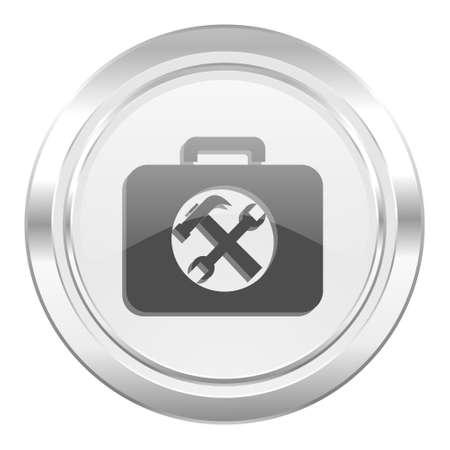 toolkit: toolkit metallic icon service sign