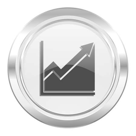 histogram: histogram metallic icon stock sign