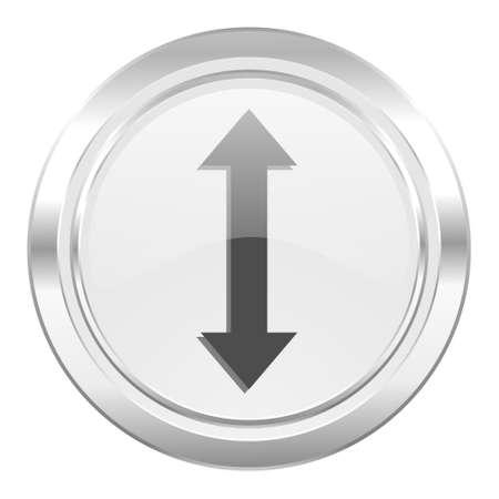 sterring: arrow metallic icon Stock Photo