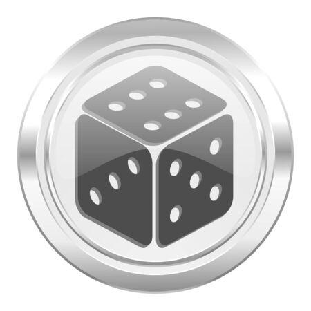 hazard sign: casino metallic icon hazard sign
