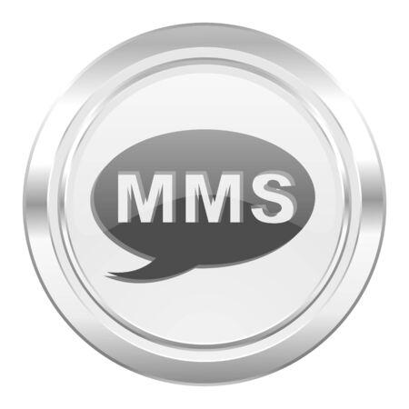 mms: mms metallic icon message sign