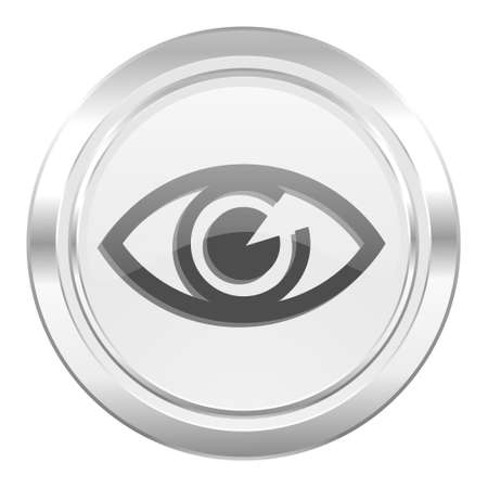 see a doctor: eye metallic icon view sign
