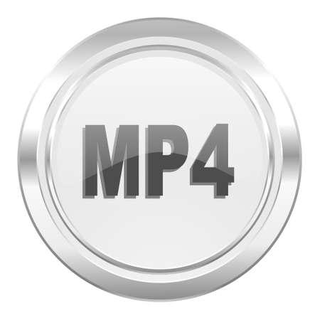 mp4: mp4 metallic icon