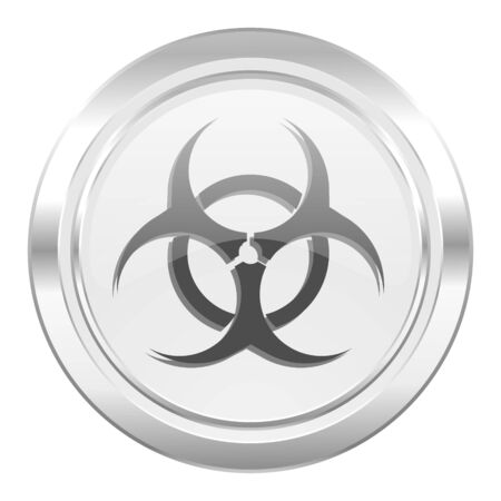 bacterioa: biohazard metallic icon virus sign