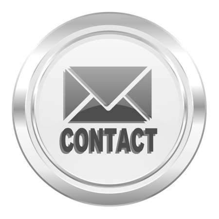 email contact: email metallic icon contact sign