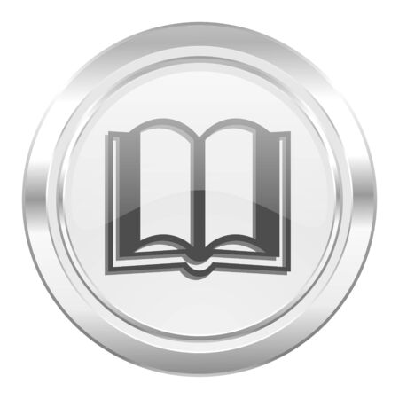 guestbook: book metallic icon