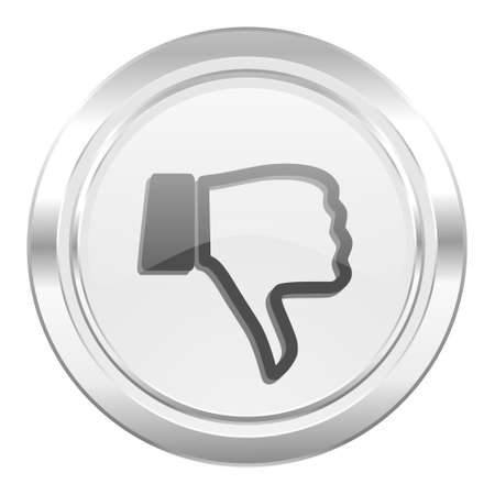thumb down: dislike metallic icon thumb down sign