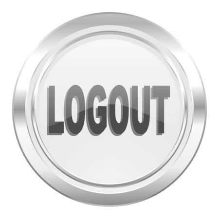 logout: logout metallic icon