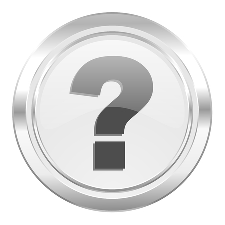 question mark metallic icon ask sign photo