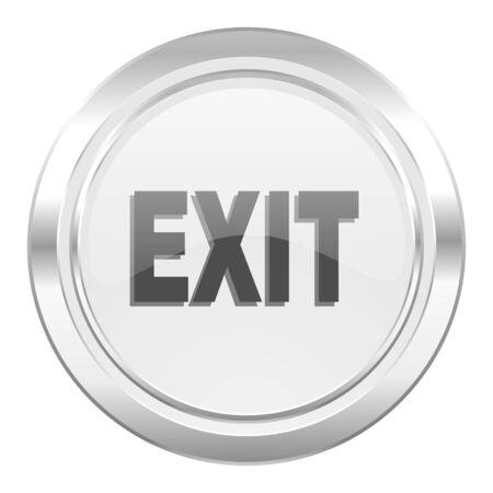 emergency exit label: exit metallic icon