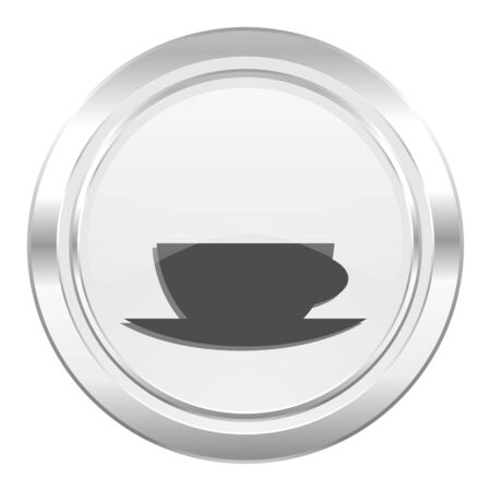 caffe: espresso metallic icon caffe cup sign Stock Photo
