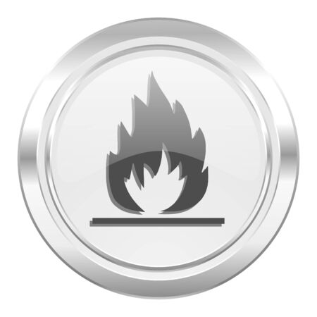 flame metallic icon photo
