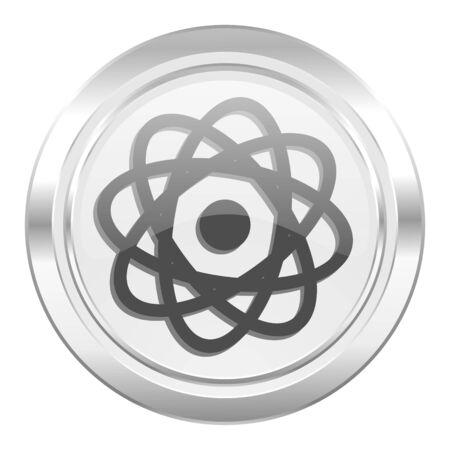 atom metallic icon photo