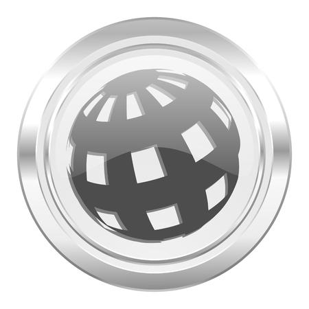 parallels: earth metallic icon