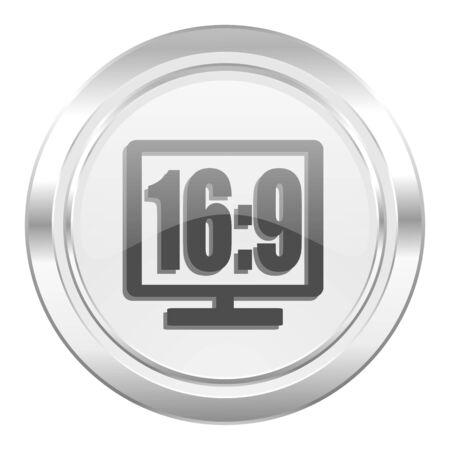 16 9 display: 16 9 display metallic icon