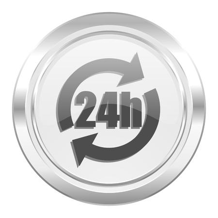 24h: 24h metallic icon
