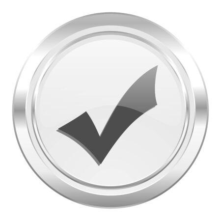 to accept: accept metallic icon check sign