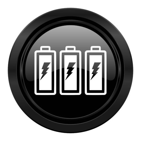battery black icon power sign photo