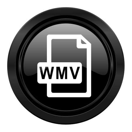 wmv: wmv file black icon