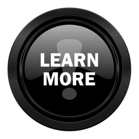 more: learn more black icon