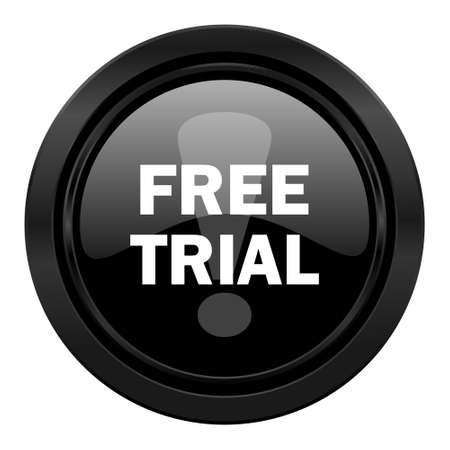 gratuity: free trial black icon Stock Photo