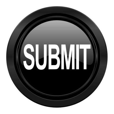 submit: submit black icon Stock Photo